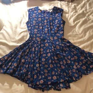 2/$10 H&M Fit & Flare Wildflower Dress Size 2
